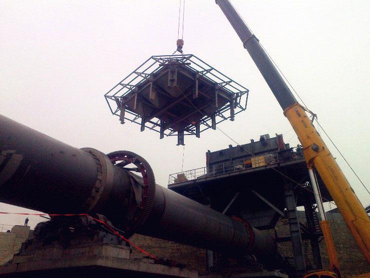 安阳众城石灰项目竖式预热器安装