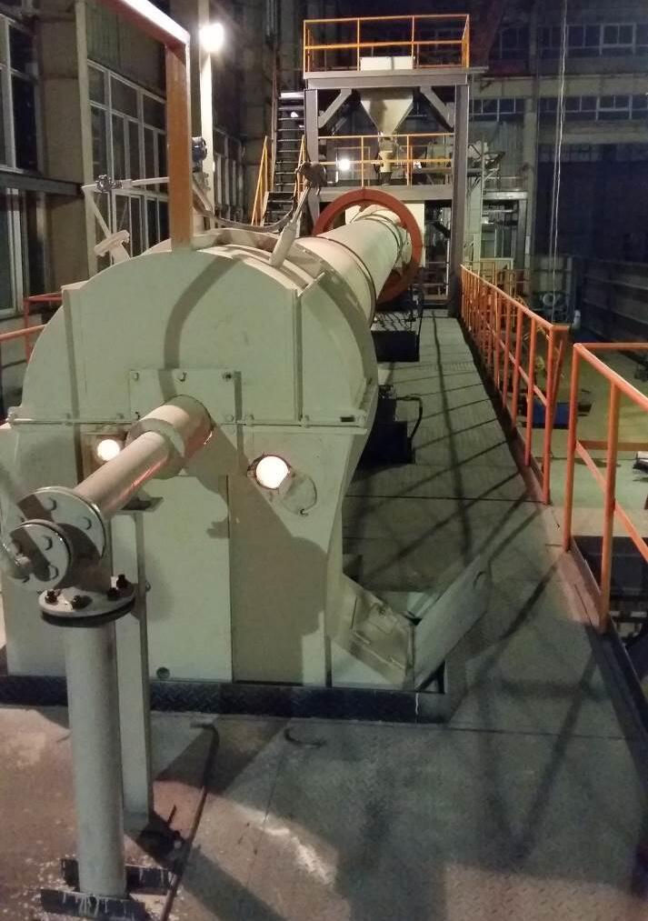 郑矿机器回转窑动态煅烧试验线